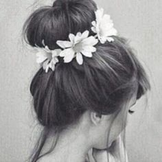 I will have to do this with my flower   headband! summer look