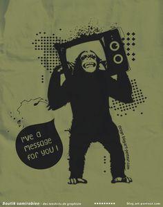 Monkey - Boutique tee-shirts Samirabien