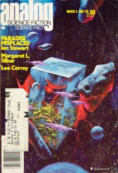 1981 Cover Analog Science Fiction Fact Paul Lehr Ian Stewart Paradise YSFC4