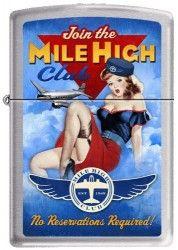 Driben Mile High Club Vintage Pinup Girl Zippo Lighter