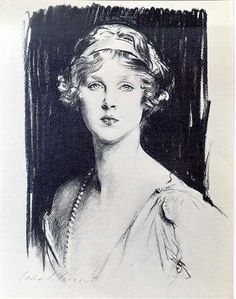 Diana, drawn by John Singer Sargent. Lady Diana Cooper, photographed by Man Ray in her role in Max Rheinhardt's fabled stage spectacle. This British aristocrat married Duff Cooper, through him, and became the redoubtable British ambassadress to France. Nancy Mitford satirized her in her book, DON'T TELL ALFRED.