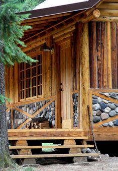 Love the stone accent. Minam River Lodge - Eagle Cap Wilderness, Oregon