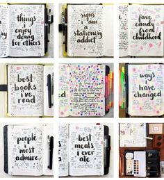 Easy Bullet Journal Ideas To Well Organize & Accelerate Your Ambitious Goals Wreck This Journal, Journal Prompts, Journal Pages, Art Journals, Bullet Journal Book, Bullet Journal Planner, Bullet Journals, Bujo, Smash Book