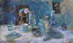 Still LIfe with Vermeer NEAC Exhib. Mall Galleries London (30th Nov-9 Dec)