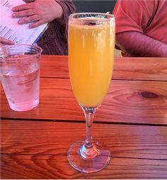 Jack Rose Libation House : Restaurant - GourmetSleuth - Mimosa with fresh-squeezed orange juice Rose Bar, House Restaurant, Refreshing Drinks, Orange Juice, Drink Recipes, Yummy Food, Haciendas, Delicious Food, Good Food
