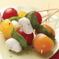 Tomato-Basil Skewers Recipe