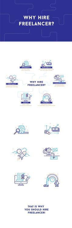 https://www.behance.net/gallery/35645937/Why-hire-freelancer #freelancer #hirefreelancer #freelance #infographic