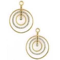 Triple Hoop Earrings in Gold $17.75