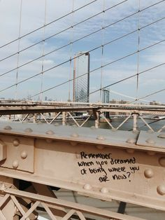 winter-in-new-york-brooklyn-bridge-inspirierende-graffiti-nyc-new-york-beschadigen/ - The world's most private search engine Pretty Words, Beautiful Words, Brooklyn Bridge, Brooklyn New York, Mood Quotes, Life Quotes, Poetry Quotes, Quote Aesthetic, Aesthetic Vintage