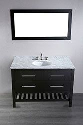 "47"" Bosconi SB-250-4 Contemporary Single Vanity #vanities #HomeRemodel #BathroomRemodel #BlondyBathHome #Freestanding"