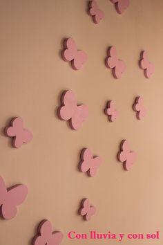 decoracin infantil y letras decorativas mariposas decorativas de pared