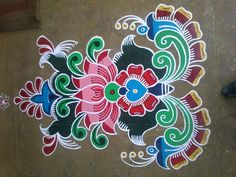 pretty rangoli design