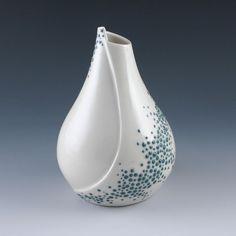 Petal Vase with Pebble Design in Aqua. $95.00, via Etsy.