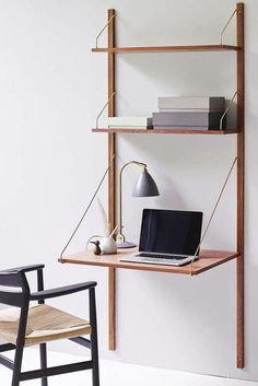 Home Office wall shelf laptop table