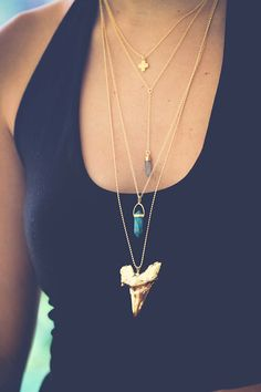 DROP point necklace  lariat by keijewelry on Etsy
