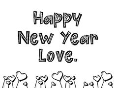 Happy New Year coloring pages holiday.filminspector.com