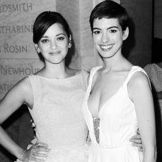 Vogue Parties — dark knight rises black square - Marion Cotillard & Anne Hathaway