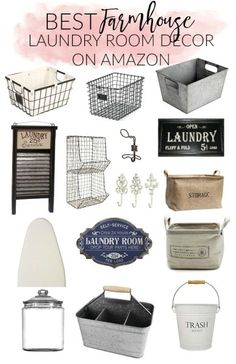 Laundry Room Design: Check out the BEST farmhouse laundry room decor on. Laundry Room Remodel, Laundry Decor, Laundry Room Organization, Laundry Room Design, Laundry Bin, Laundry Closet, Bathroom Storage, Room Decor For Teen Girls, Farmhouse Laundry Room