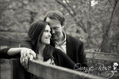 Couple on Historic Bridge, Fun Romantic Sweet Intimate Engagement Session, Black and White Fine Art, Historic Rittenhouse Town Village Wissahickon Park Philadelphia, Hannah Chen Photography, www.hannahchenphotography.com