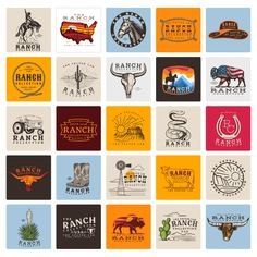 Ranch - TheVectorLab Store Signage, Affinity Photo, Affinity Designer, Graphic Design Software, Photoshop Illustrator, Coreldraw, The Ranch, One Design, Graphic Design Inspiration