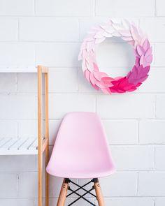 diy paint chip wreath | hipster mum | www.hipstermum.com