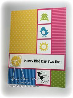 Heart's Delight Cards FabFri09  Hoppy Bird Day Two Ewe