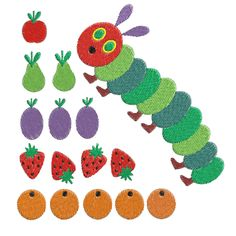 Shoply.com -very hungry caterpillar Machine Embroidery Design -- 0733. Only $2.50