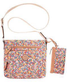 Giani Bernini Coated Canvas Crossbody - Handbags   Accessories - Macy s  Bolsas 6ac589732ee