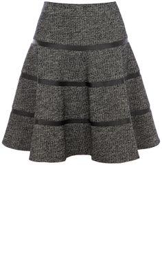 Karen Millen Grey Wool Skirt, £125