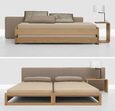 Two beds stacked (without fixings!) make a wonderful couch for the daytime, mattress, h 12cm, Manufacturer Zeitraum, Designer Hertel & Klarhoefer