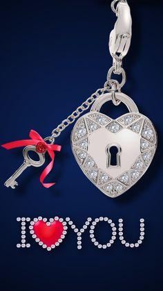 Heart Wallpaper, Locked Wallpaper, Cellphone Wallpaper, Pink Wallpaper, I Love You Mom, Love Is Sweet, Key To My Heart, Heart Art, Love You Images