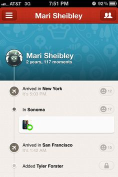 Path, Mobile Patterns - User Profiles