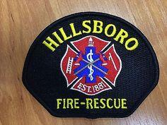 Patch Hillsboro Fire Department Oregon USA Sample of 2017 New Original Rarity  | eBay