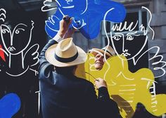 Fashion designer and artist Jean-Charles De Castelbajac aka JC/DC has created a large-scale illustrative artwork on the panels of the Covent Garden's (London UK) mirrored hoardings. Follow @thecoventgardener to get more news from the cultural heart of London #jcdc #castelbajac #dcnart #dcnlondon