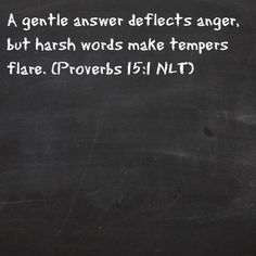 Great Advice!!! Verse of the day!!! Bible Verse: Proverbs 15:1
