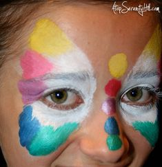 Rainbow Butterfly Face Paint Tutorial - Atop Serenity Hill