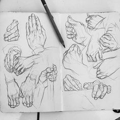 Sketch: Simple Pencil Hands People Sketch, Pencil Drawings, Art Drawings, Pencil Drawing Tutorials, Animal Drawings, Art Studies, Art Sketchbook, Art Sketches, Sketch Inspiration