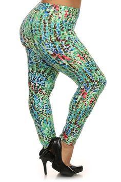 a2c4733e185 Plus Size Cheetah Print Lined Leggings with Elastic Waist. – PLUSSIZEFIX  Plus Size Clubwear