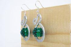 earrings aluminium glass earrings emerald by amabito on Etsy, €15.00