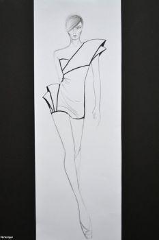 My sketch- Black, White, Form 1. by Verenique