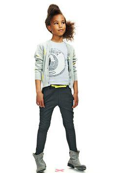 Kinderkleding Molo Meisjes Vest Grijs | Stoere meisjes look | www.kienk.nl