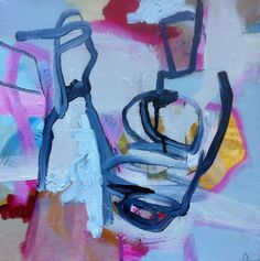 'Things that hang' by Amy Clarke 2011. Mixed media on canvas.