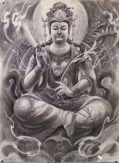 Buddha Tattoo Design, Buddha Tattoos, Pieta Statue, Oriental, Back Pieces, Irezumi, Tattoo Designs, Princess Zelda, Japanese