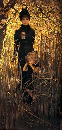 James Jacques Joseph Tissot (1836-1902), Orphan, Oil on canvas, c1879