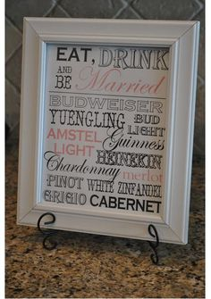great bar menu idea
