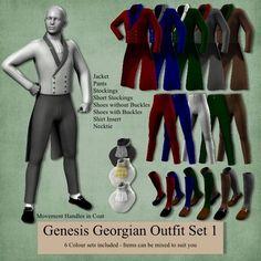 Genesis Georgian Outfits. Lots of happy guys in the DanniStories camp!