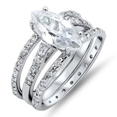 A Perfect 1.5CT Marquise Cut Russian Lab Diamond Promise Engagement Anniversary Ring
