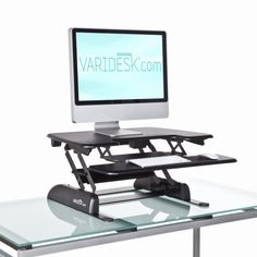 VARIDESK standing desk monitor arms let you position your monitors
