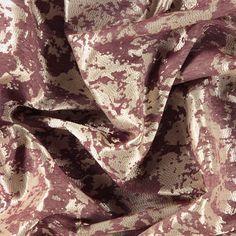 Jacquard plomme m abstr. gyllent mønster - STOFF & STIL Bordeaux, Alexander Mcqueen Scarf, Pin Up, Lingerie, Fabrics, Fashion, Plum, Tejidos, Moda