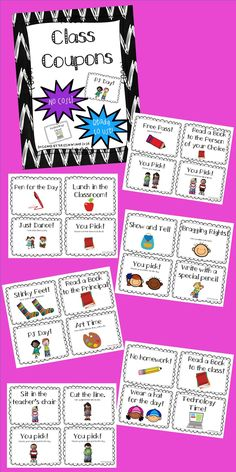 Looking for ways to motivate and provide incentives to your students that require no cost and are ready to use? If so, this file is just what you need! Included are 24 coupons that just need to be printed and then are ready for classroom use!